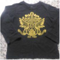 Camiseta Preta Place!!! - 4 anos - Place