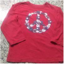 Camiseta  Vermelha  Place ! - 4 anos - Place
