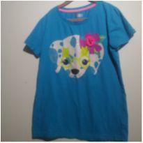 Camiseta Cachorrinho Azul!! - 14 anos - Circo