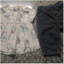 Fofo Conjunto  Gatinha!! - 3 a 6 meses - Up Baby e Hering Baby