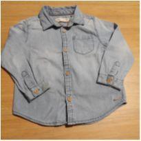 Estilosa Camisa Jeans Zara! - 18 a 24 meses - Zara Baby