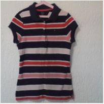 Polo Tommy Original  Roxa! - 8 anos - Tommy Hilfiger