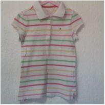 Polo Tommy Original Branca! - 8 anos - Tommy Hilfiger