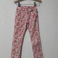 Estilosa Calça Flores!! - 6 anos - Figurinha