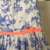 Vestido Carter`s Floresta Branco e Azul - 18 meses - Carter`s