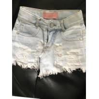 Shorts Jeans Destroyed Pituchinhu`s - 4 anos - Pituchinhus