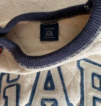 Moletom GAP nude e azul - 12 a 18 meses - Baby Gap