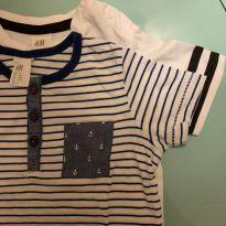 Camisetas menino H&M - 6 a 9 meses - H&M