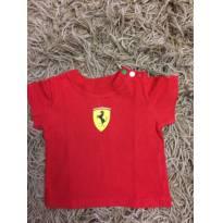 Camiseta Ferrari Vermelha - 3 a 6 meses - Ferrari