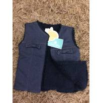 Colete Jeans Maravilhoso forrado em pele sintética (com etiqueta!) - 3 anos - Açucena