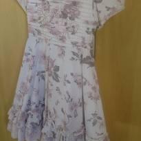Vestido vintage floral com renda - 3 anos - Menina Bonita