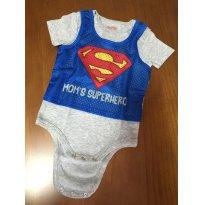 P313 Body Superman - 3 a 6 meses - Não informada