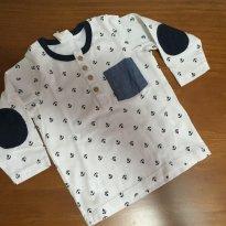 P403 Camiseta manga longa HM - 3 a 6 meses - H&M