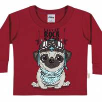 20668 Camiseta Pug Rock Star tam 1 - 1 ano - Elian