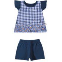 21825 Conjunto bata e shorts (6 a 9 meses) - 6 a 9 meses - Elian