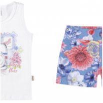 231103 Conjunto regata e shorts floral tam 4 - 4 anos - Elian