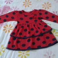 Vestido vermelho com bolinhas - 1 ano - Elian