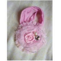 Faixa flor rosa linda -  - Artesanal
