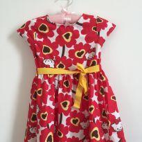 Vestido Hello Kitty - 6 a 9 meses - Hello Kitty by Sanrio
