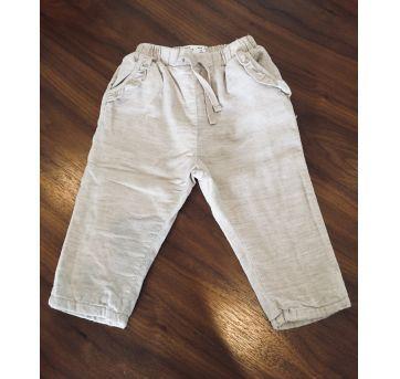 Calça de veludinho cotelê com forro - 9 a 12 meses - Zara