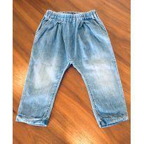 Calça jeans  saruel, super molinha com coração no bumbum - 1 ano - Chicco
