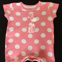 Macaquinho Girafinha cor de rosa - 6 a 9 meses - Desconhecida