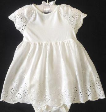 Vestido / Body branco - 9 a 12 meses - Gerber