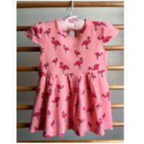 Vestido Flamingos - 9 a 12 meses - Hering Kids