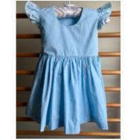Vestido Azul de bolinhas - 6 a 9 meses - Sweetie