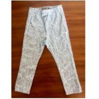 Calça Legging  - Nosh! azul clara com estampa de cobra! SUPER BRILHOSA :) - 9 a 12 meses - Nosh