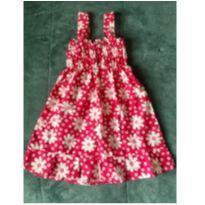 Vestido Florido - 12 a 18 meses - Não informada