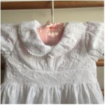 vestido beth bebê branco - 3 meses - Beth Bebê