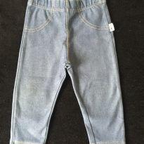 Calça leggin estilo jeans - 9 a 12 meses - Hering Kids