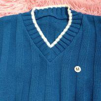 Cardigan azul - 7 anos - sem etiqueta