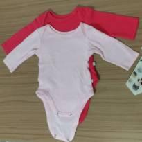 Kit body, cores lisas, teddy boom, P - 0 a 3 meses - Teddy Boom
