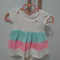 Vestido body listras - 3 a 6 meses - Baby Way