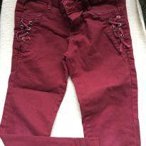 Calça  jeans vermelha maravilhosa 04 anos - 4 anos - marmelada
