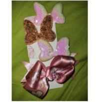 Kit laços da Minnie lantejoulas e glitter -  - Sem marca