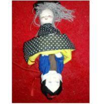 Boneca Vira Bruxa Vira Brancadeneve -  - Artesanal