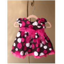 Vestido Tafetá Bolas - 3 a 6 meses - Bonnie Baby