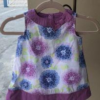Vestido Florido Lilás - 3 a 6 meses - Gymboree