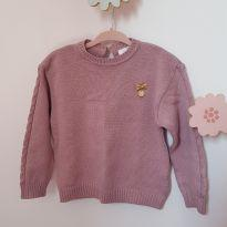 Suéter rosê - 12 a 18 meses - Paola Da Vinci e Paola BimBi