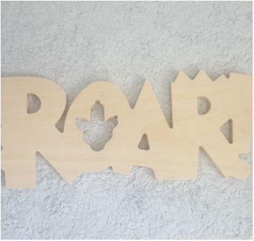 ROAR - decoração dinossauro - Sem faixa etaria - Artesanal