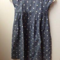 Vestido de poa jeans - 5 anos - Baby Gap