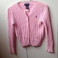 Casaquinho rosa  ralph lauren - 6 anos - Ralph Lauren