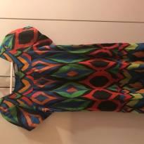 Vestido colorido lindo - 8 anos - Não informada
