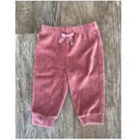 Calça Veludo Rosa Bicho Molhado - Recém Nascido - Bicho Molhado