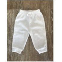 Calça Veludo Branca Bicho Molhado - Recém Nascido - Bicho Molhado