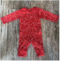 Macacão Vermelho Corações Carters - Recém Nascido - Carter`s