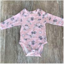 Body Milon Rosa Floral - 0 a 3 meses - Milon